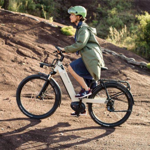 Vélo électrique Riese and Müller Nevo 3 - VTC électrique femme cadre bas - vélo électrique ville femme - boutique appebike ajaccio en Corse - Couleur blanc - 2