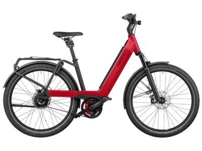 Vélo électrique Riese and Müller Nevo 3 - VTC électrique femme cadre bas - vélo électrique ville femme - boutique appebike ajaccio en Corse - Couleur rouge